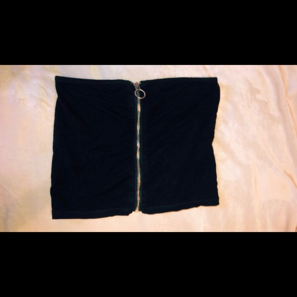 Forever 21 Tops - zip up tube top
